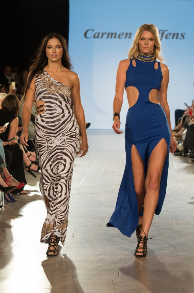 Photos : Fashion Week de New York : Adriana Lima et Toni Garrn : stars du podium MFT Moda !