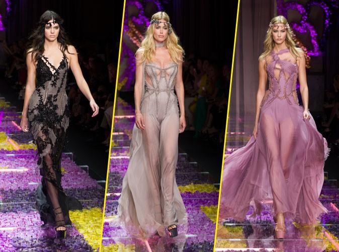 Photos : Fashion Week : Kendall, Doutzen, Karlie... Toutes présentes sur le catwalk Versace !
