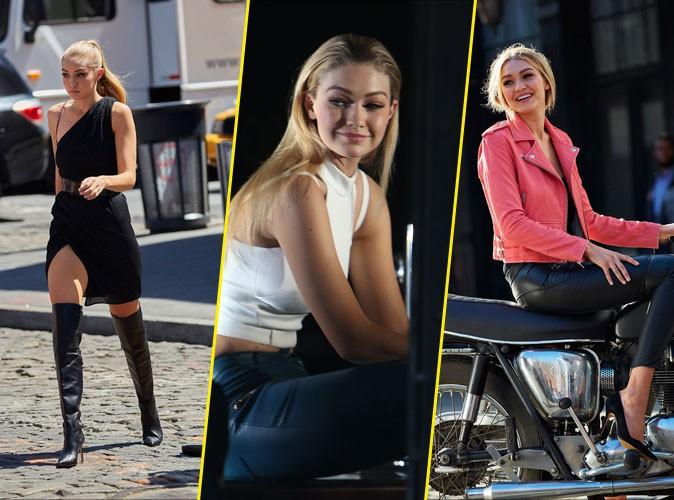 Photos : Gigi Hadid se prend pour une bikeuse dans son dernier shooting pour Gemey Maybelline !