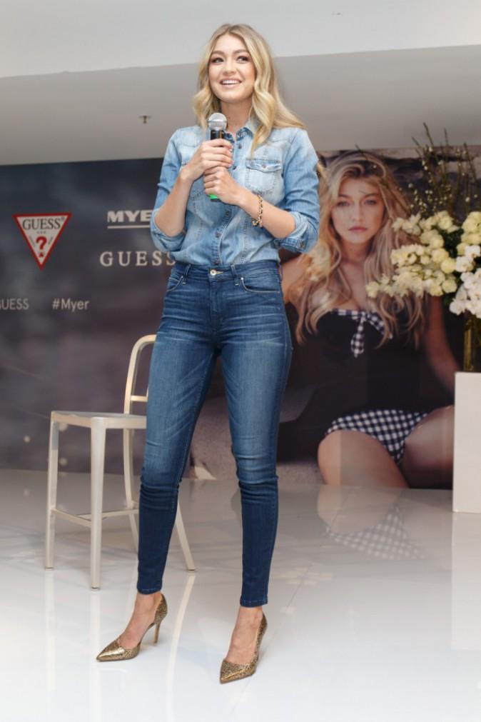 Gigi Hadid pour la promotion de Guess
