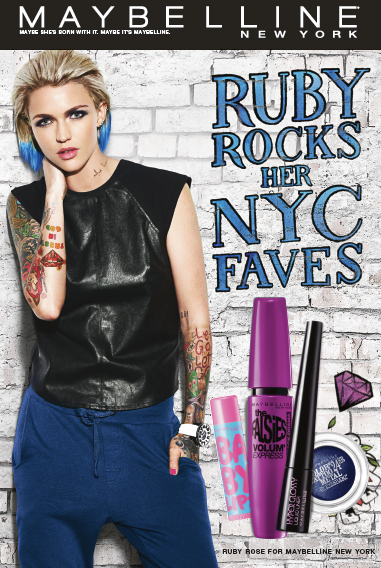 "Ruby Rose passe au ""Rainbow hair"" pour Maybelline"
