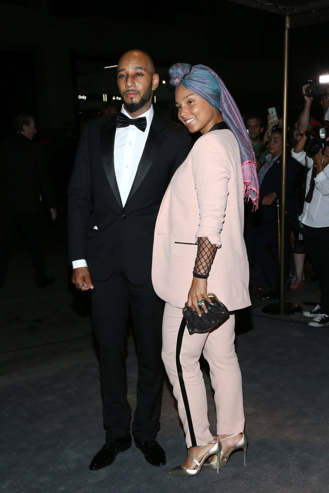 Alicia Keys et son mari au défilé Tom Ford