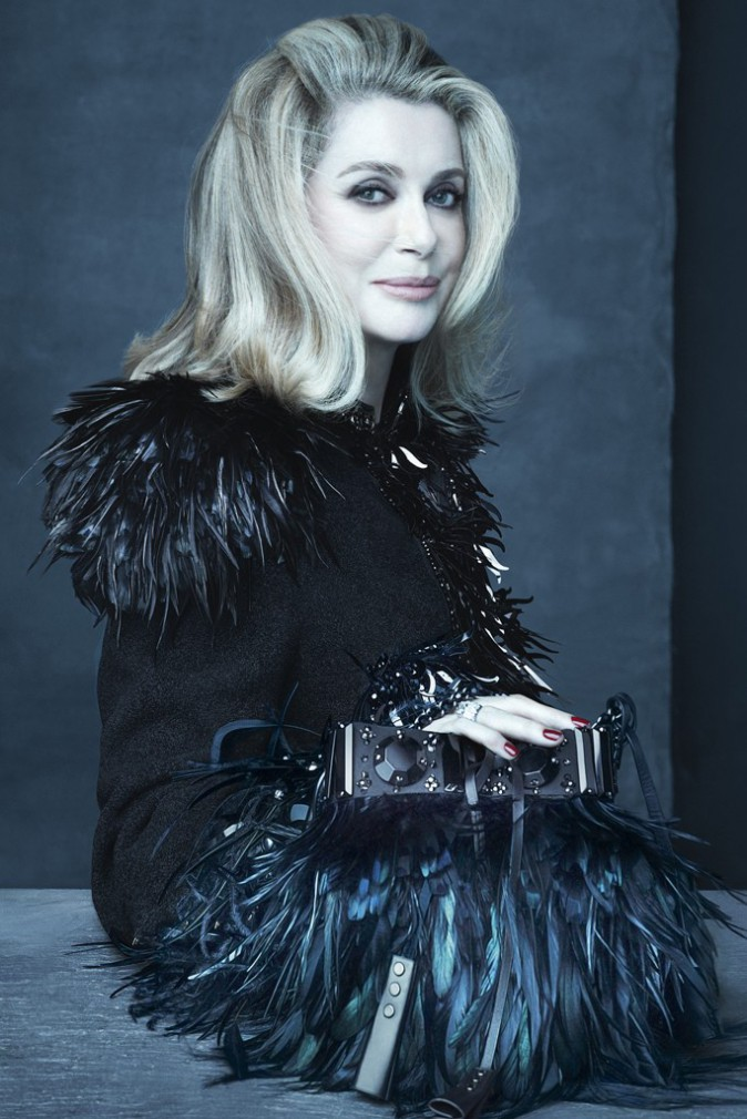 Catherine Deneuve pour Louis Vuitton.