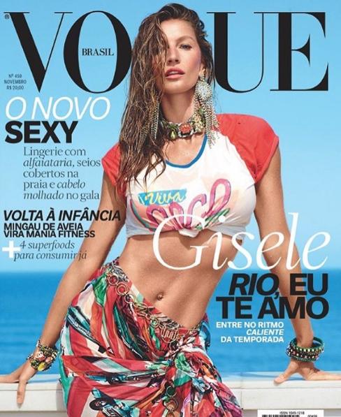 Gisele Bündchen en couverture de Vogue Brésil