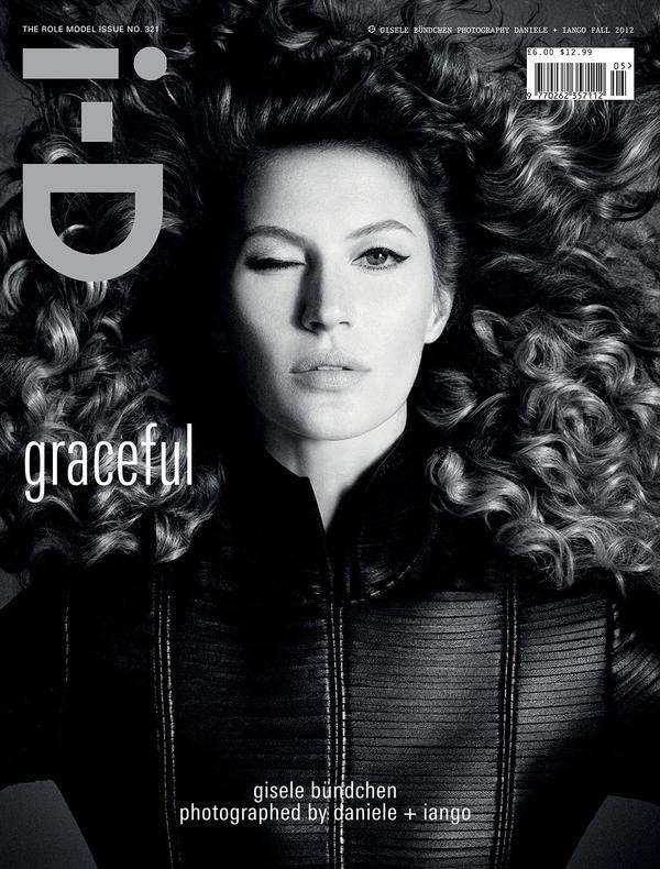 Gisele Bündchen en une de I-D Magazine.