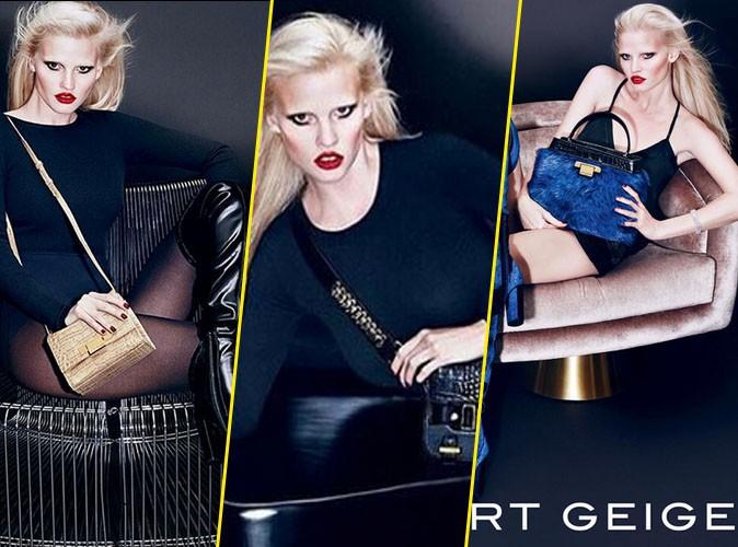 Photos : Glamour et sexy, Lara Stone nous envoûte dans la campagne Kurt Geiger !