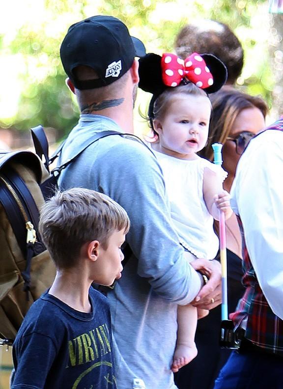 Harper Beckham en Minnie