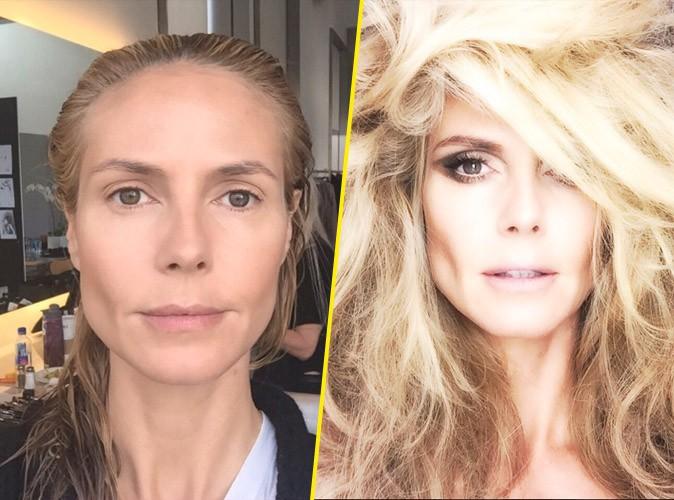 Heidi Klum : avant / après son shooting photos