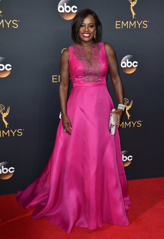 Viola Davis (How to Get Away with Murder) en Marchesa