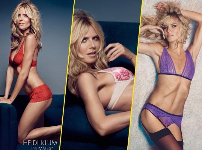 """Photos : Heidi Klum, 42 ans et toujours aussi hot pour sa marque de lingerie """"Heidi Klum Intimates"""" !"""