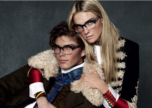 Caroline Trentini pour la nouvelle campagne automne - hiver 2015 de DSquared2