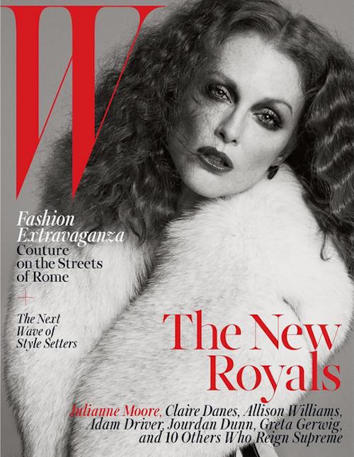 Photos : Jourdan Dunn, Julianne Moore, Claire Danes…  W Mag sacre ses nouveaux maîtres du monde !