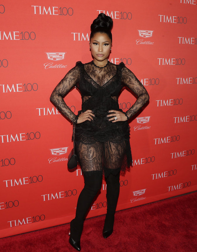 Nicki Minaj sur le red carpet du gala Time Magazine