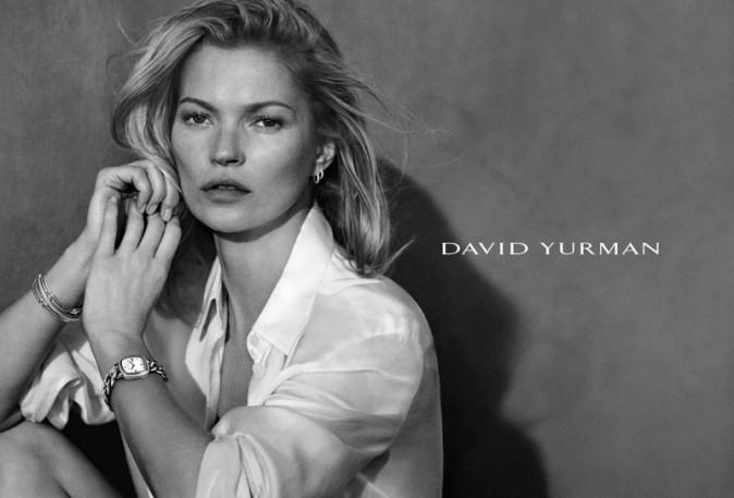 Photos : Kate Moss en femme fatale d'un autre temps pour David Yurman !