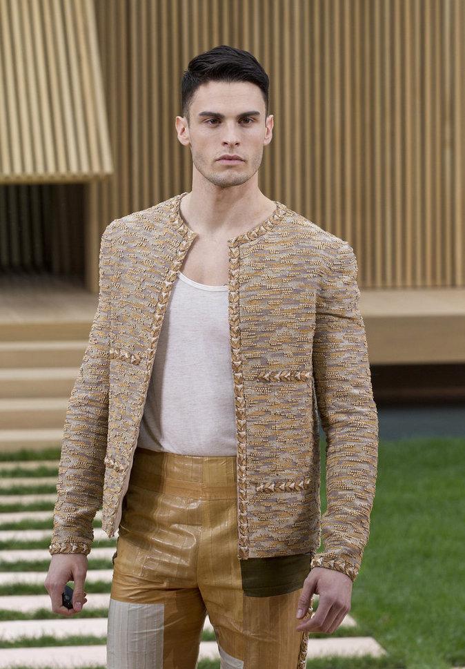 Baptiste Giabiconi au défilé Chanel Haute Couture