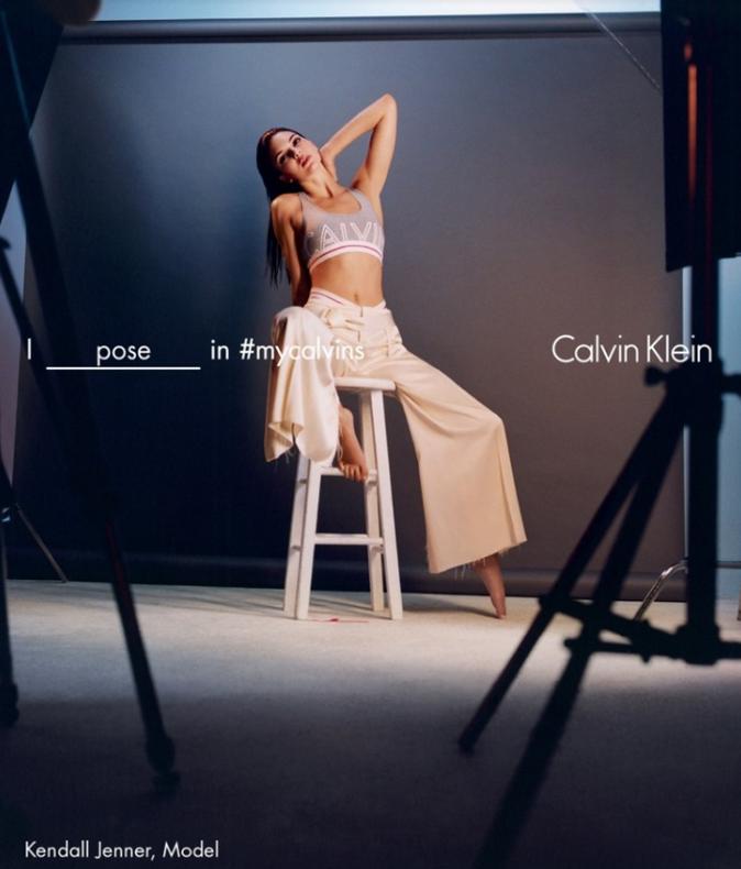 Kendall Jenner pour Calvin Klein