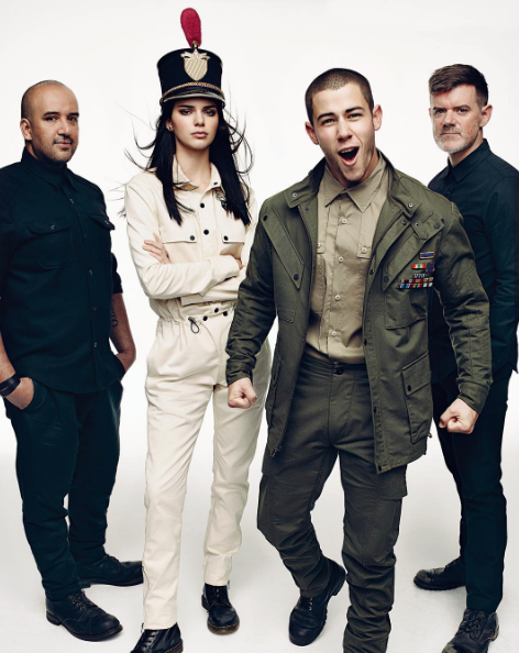 Kendall Jenner, Gigi Hadid et Nick Jonas pour Vogue Novembre