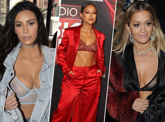 Kim Kardashian, Karrueche Tran, Rita Ora... Elles craquent toutes pour le soutien-gorge transparent !