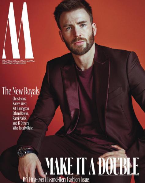Chris Evans en couverture de W Magazine