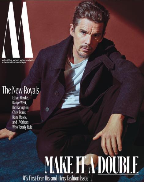 Ethan Hawke en couverture de W Magazine
