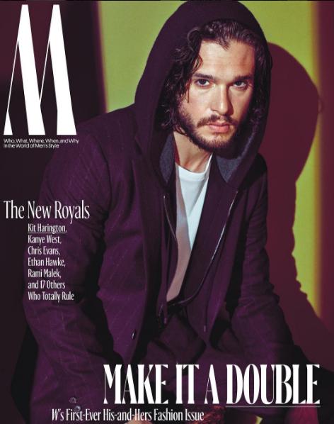 Kit Harington en couverture de W Magazine