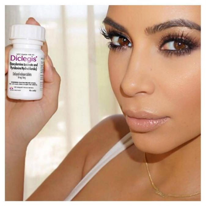 Kim Kardashian fait de la publicité pour Diclegis