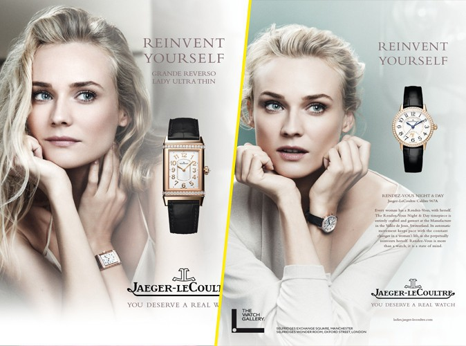 L'actrice Diane Kruger, à l'heure d'été pour les montres Jaeger-LeCoultre