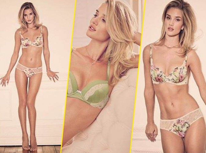 Photos : La belle Rosie Huntington-Whiteley nous dévoile sa nouvelle collec' Marks & Spencers !