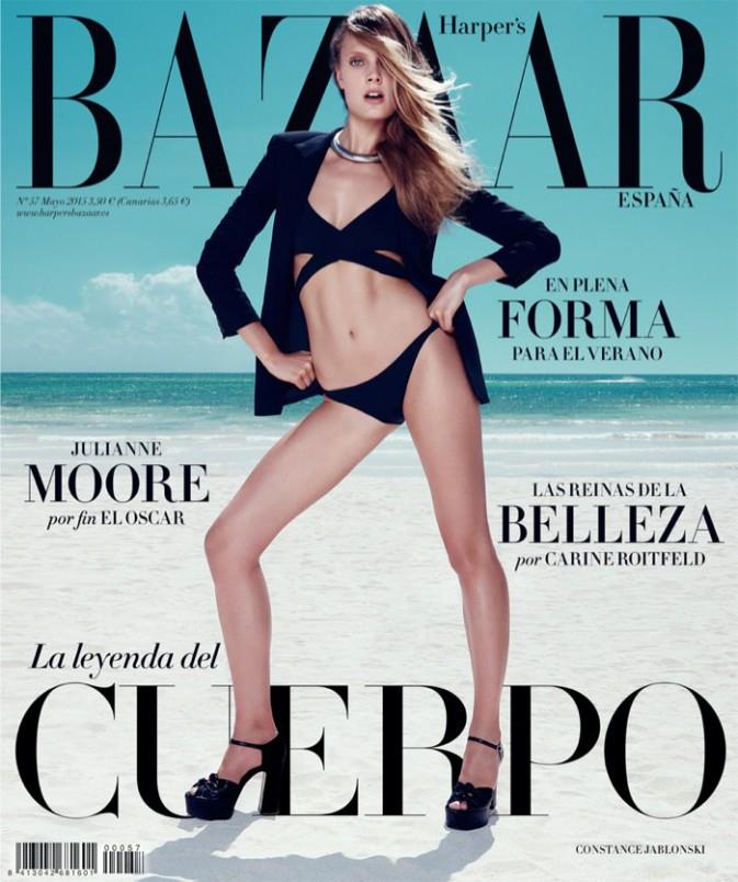 La française Constance Jablonski : sublime pour Haper's Bazaar