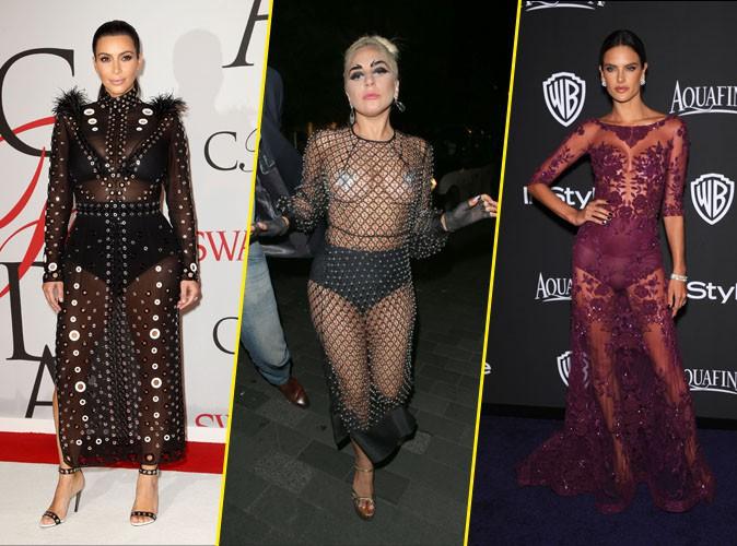 Kim Kardashian, Lady Gaga, Alessandra Ambrosio : la gaine ou la culotte, il faut choisir !