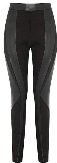 Leggings avec empiècements en cuir - 34€