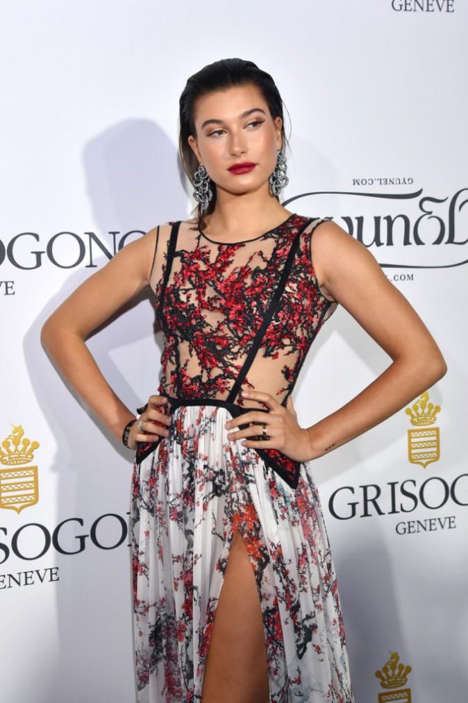 Les plus beaux beauty look de la soirée de Grisogono : Hailey Baldwin