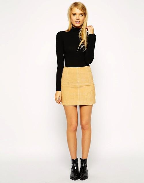 Mini-jupe en daim, 55,99€