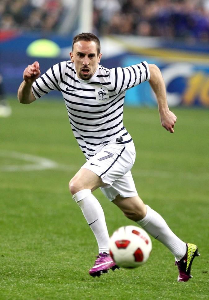 Franck Ribery sur le terrain !