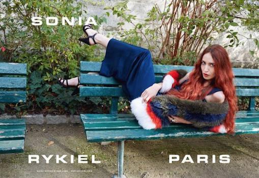 Elizabeth Jagger pour Sonia Rykiel
