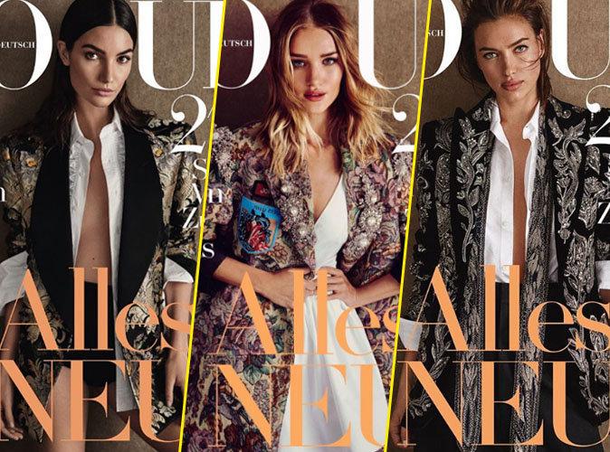 Photos : Lily Aldridge, Rosie Huntington-Whiteley, Irina Shayk... Ultra stylée en couverture de Vogue Allemagne