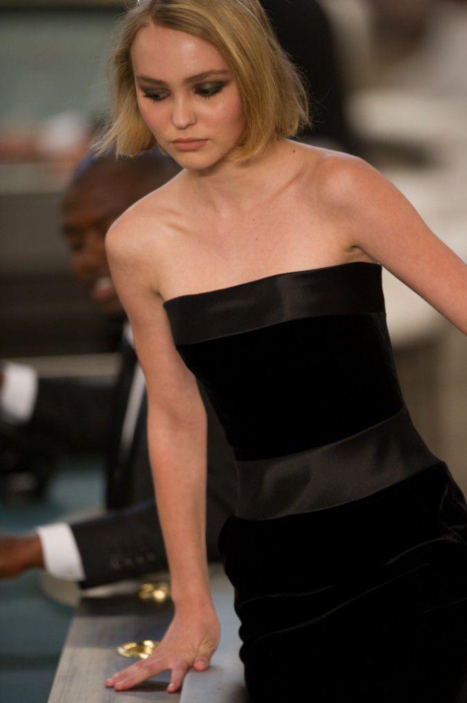 Lily-Rose Depp au défilé Chanel Haute Couture le 7 juillet 2015