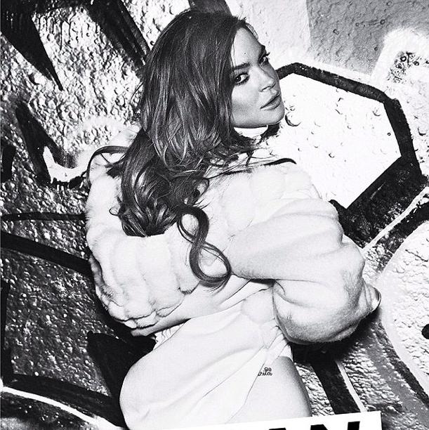 Lindsay Lohan : désinvolte pour Notion magazine
