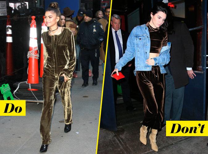 Le velours et les bottines - Do : Zendaya / Don't : Kendall Jenner