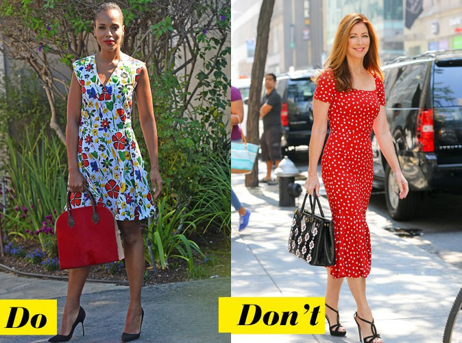 L'imprimé rétro - Do : Kerry Washington / Don't : Dana Delany