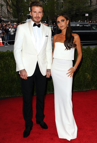 David et Victoria Beckham à New York le 5 mai 2014