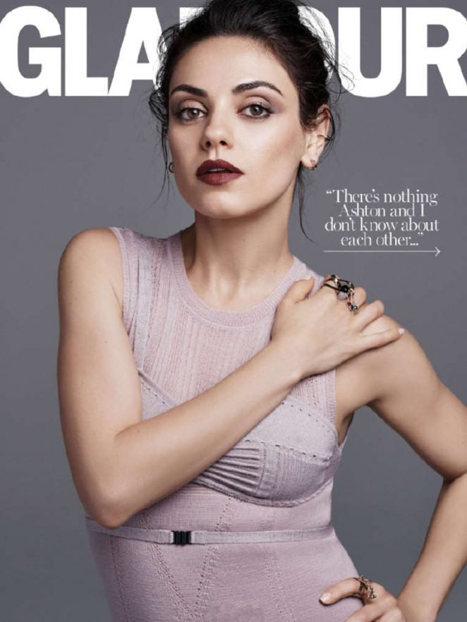 "Photos : Mila Kunis : elle prône le ""no make-up"" en couverture du magazine Glamour"