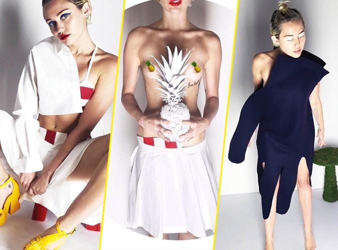Photos : Miley Cyrus nous montre encore ses seins pour V Magazine !