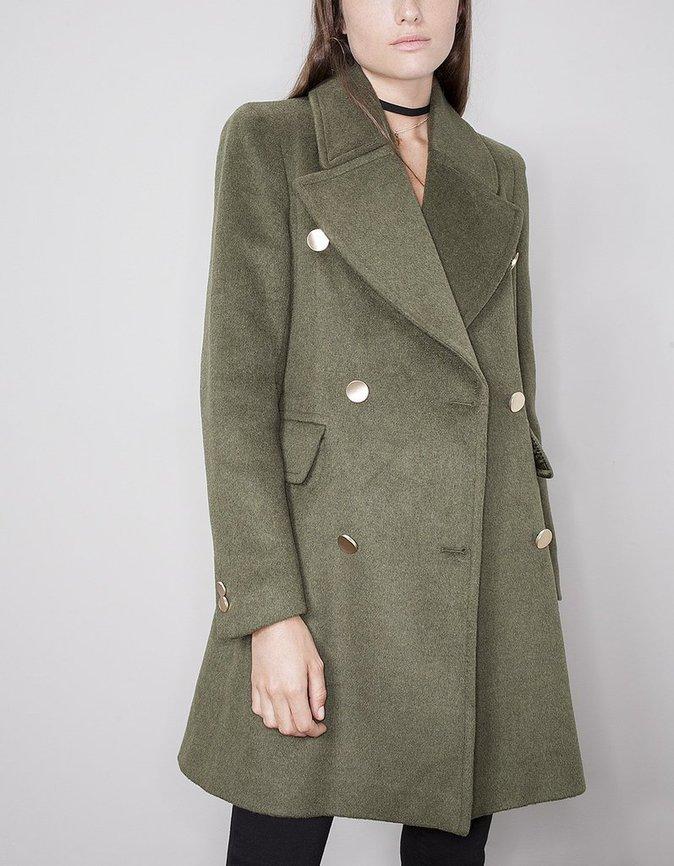 Manteau lady, boutons dorés - STRADIVARIUS - 59,95€