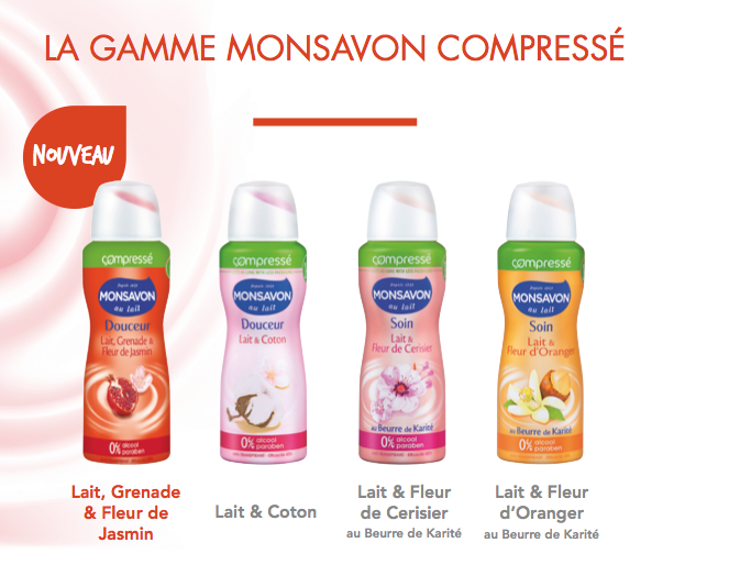Déodorants compressés Monsavon