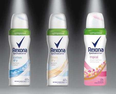 Déodorants compressés Rexona