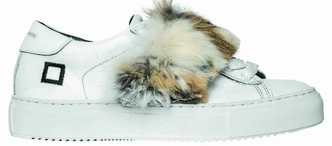 Sneakers en cuir et fourrure, D.A.T.E. aux Galeries Lafayette 229 €