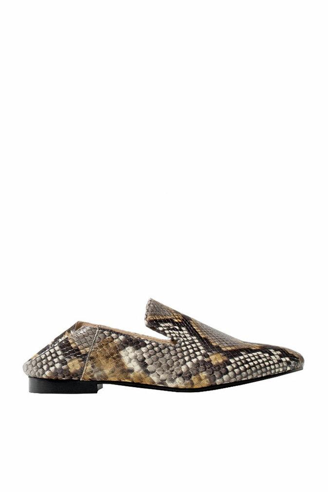 Tatanes de bureau : En simili python, Massimo Dutti 89,95 €