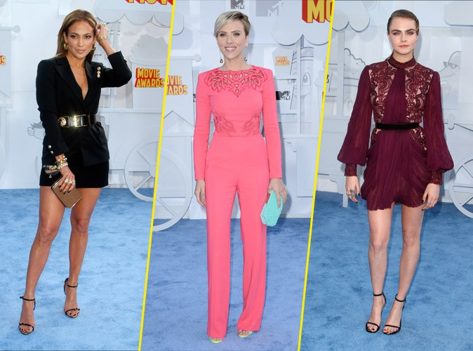 Photos : MTV Movie Awards 2015 : Jlo, Scarlett, Cara.. Tous les plus beaux looks !