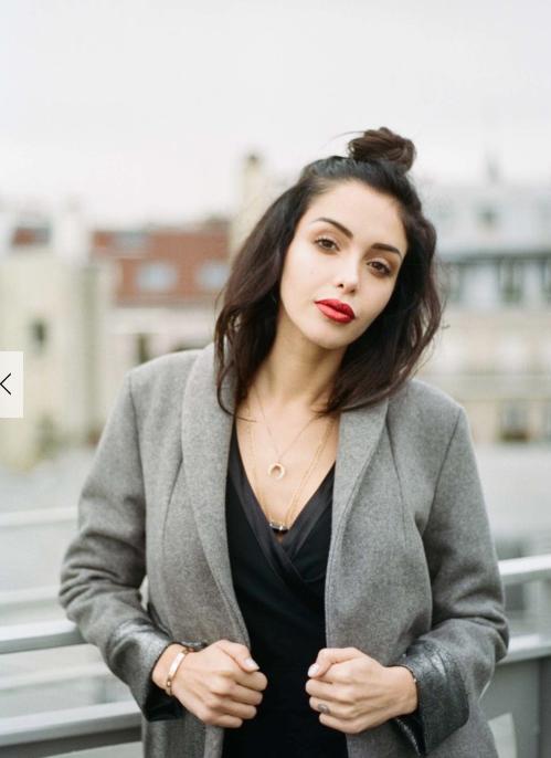 """Nabilla Benattia pour Yayou Paris : Manteau """"Natt"""" - 485€"""